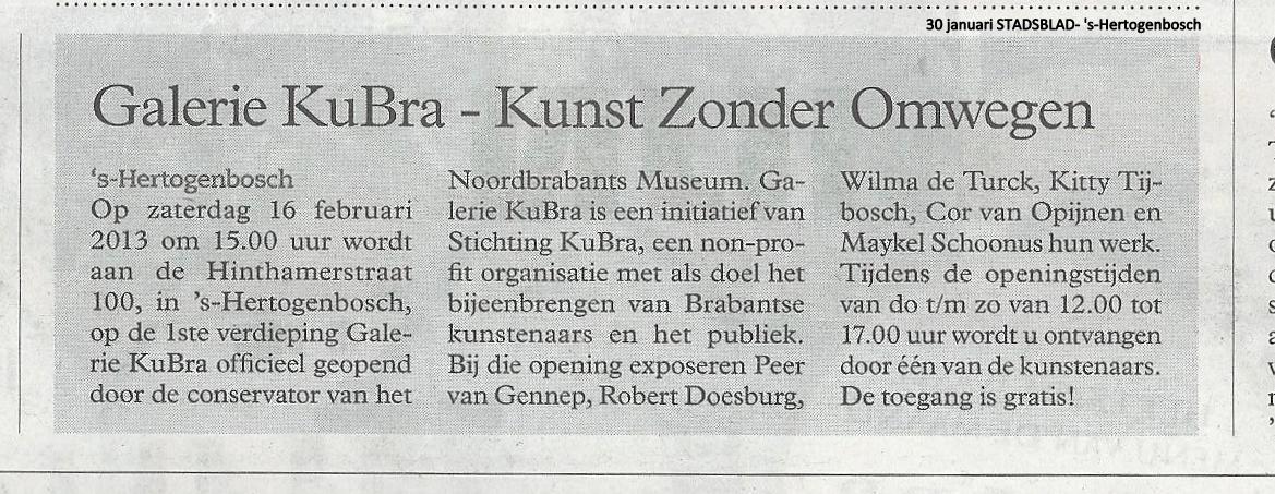 30 januari 2013 Stadsblad 's-Hertogenbosch