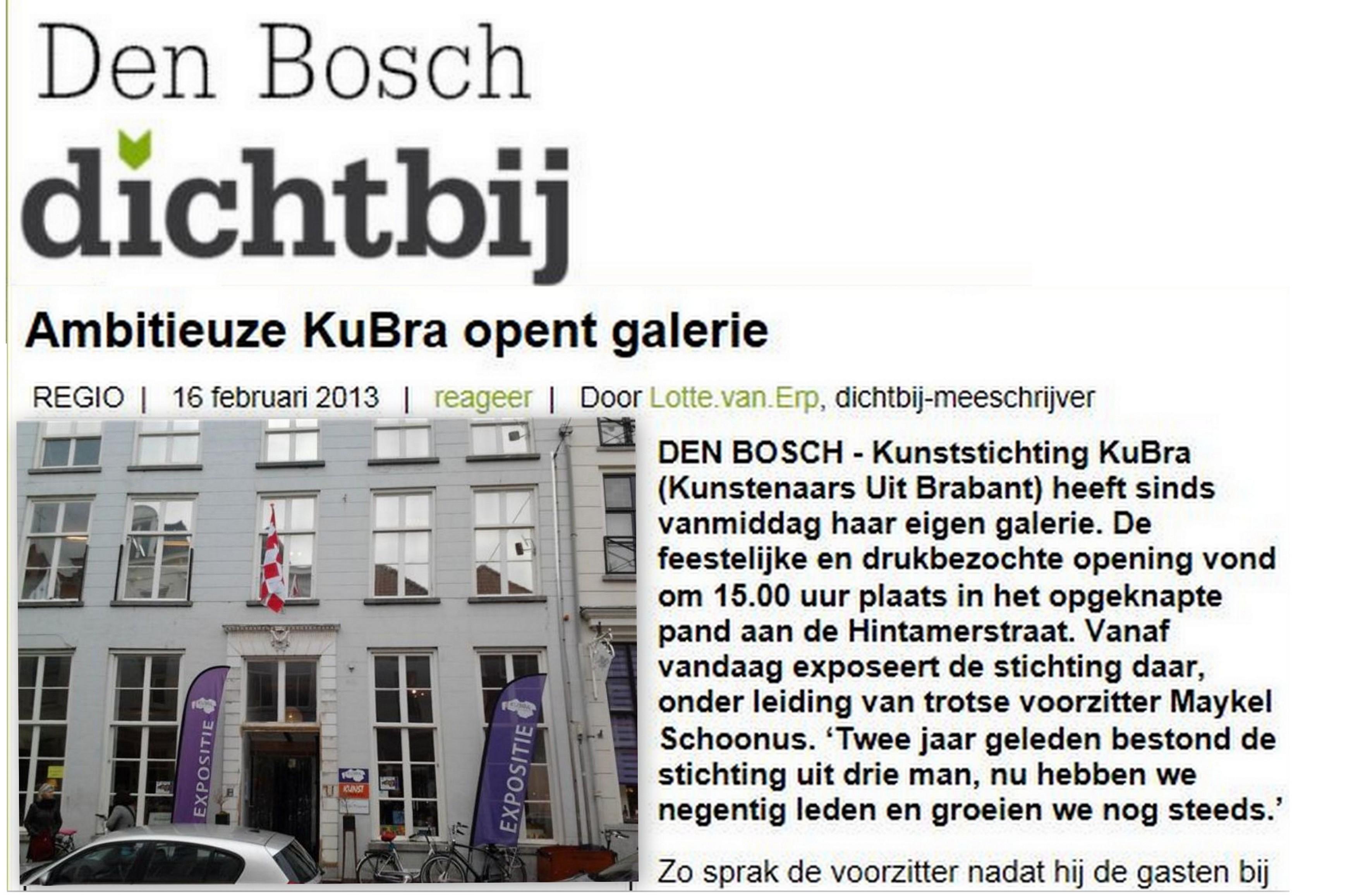 17 februari 2013 interview tijdens Opening Galerie met voorzitter