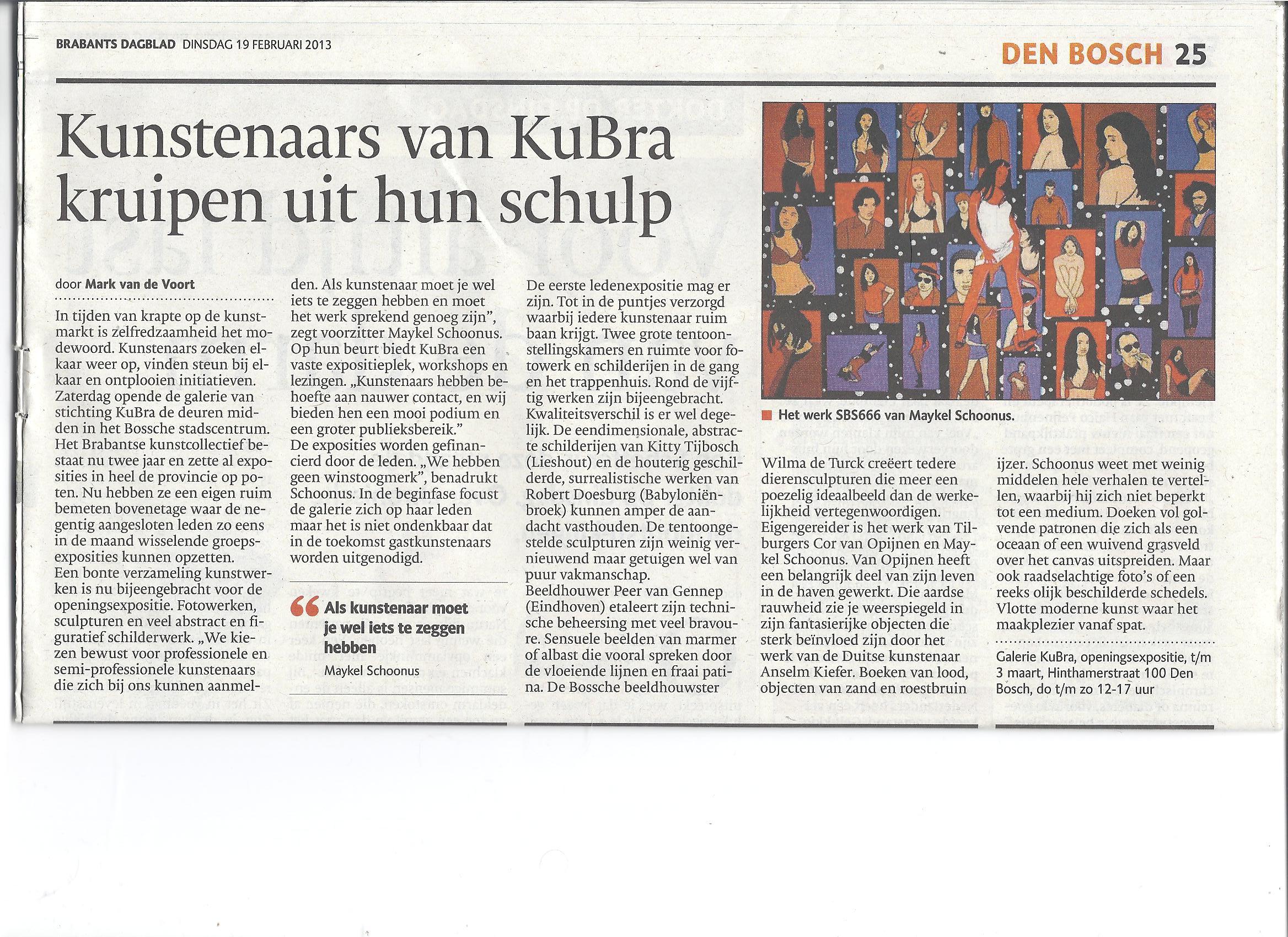 19 febuari 2013 Brabants Dagblad