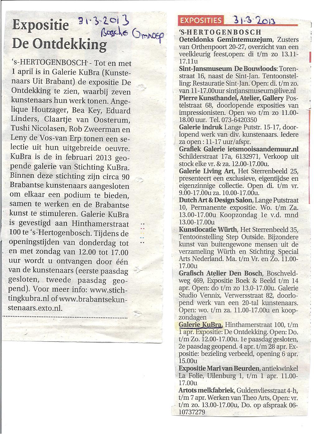 31 maart 2013 publicatie Bossche Omroep