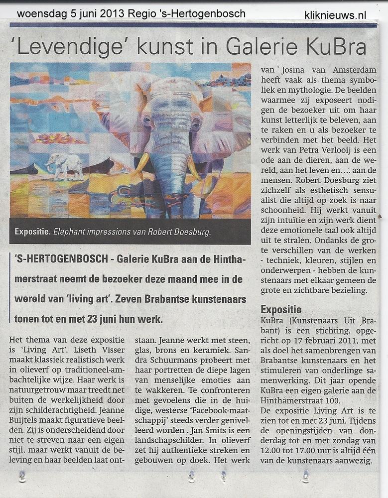 Publicatie Weekblad Regio 's-Hertogenbosch 5 juni 2013