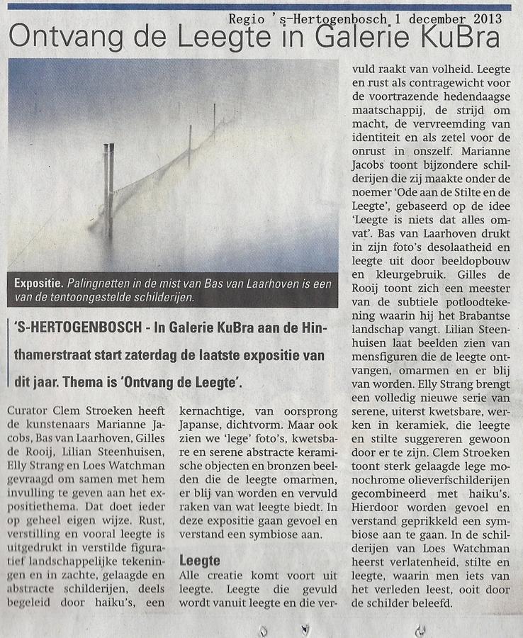 Publicatie weekkrant Regio 's-Hertogenbosch 27 november 2013
