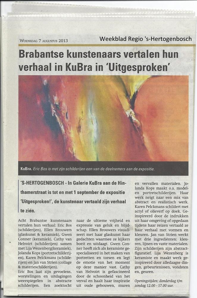 Publicatie weekkrant Regio 's-Hertogenbosch 7 augustus 2013