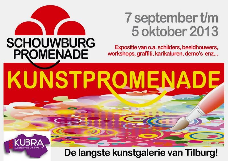 7 september t/m 5 oktober Schouwburgpromenade=Kunstpromenade Tilburg
