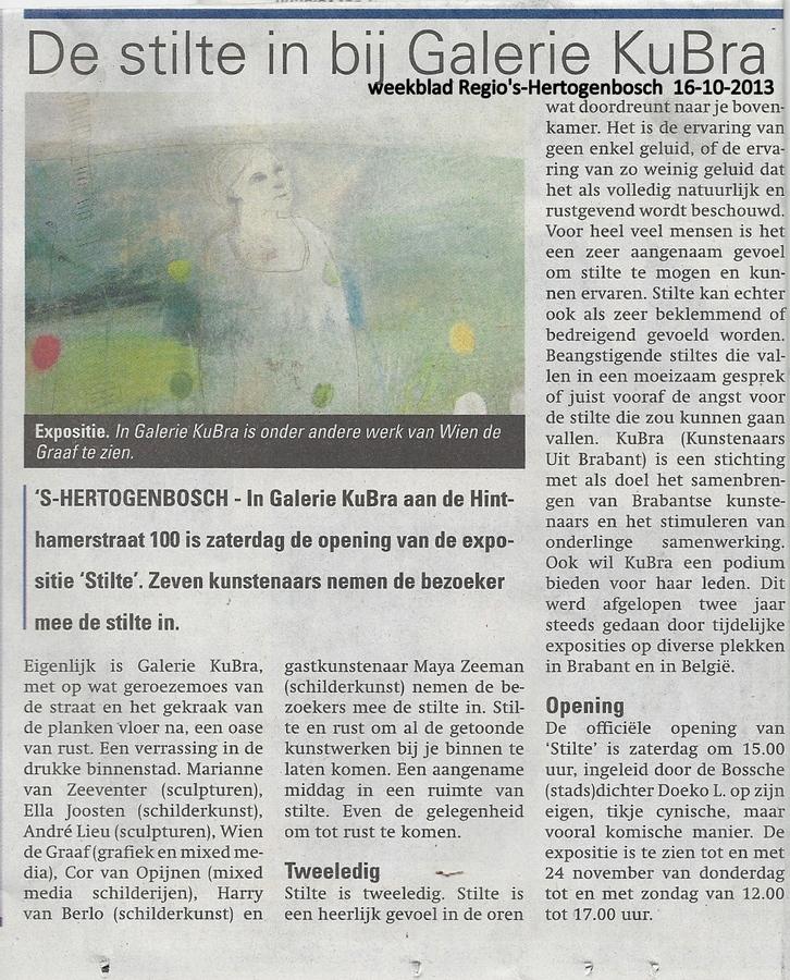 Publicatie weekkrant Regio 's-Hertogenbosch 16 oktober 2013
