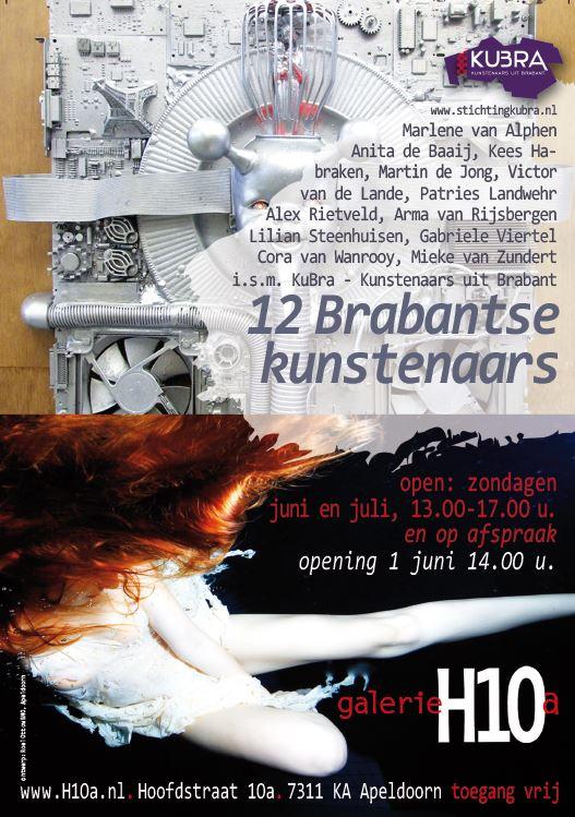 1 juni t/m 27 juli 2014 KuBra in Galerie H10a-Apeldoorn